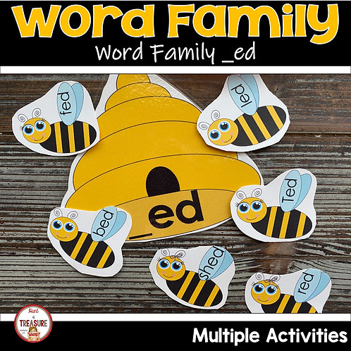Word Family and Rhyming Activities for Toddlers and Kindergarten