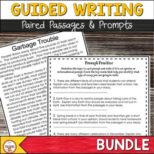 Guided Writing Activities for FSA Text Based Writing | 4th and 5th Grade