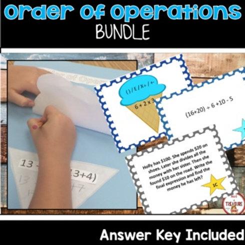 Order of Operations Math Activities 4th Grade Math