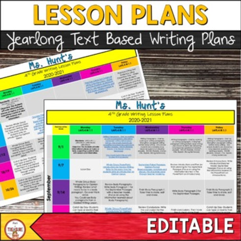 Lesson Plans for FSA Writing