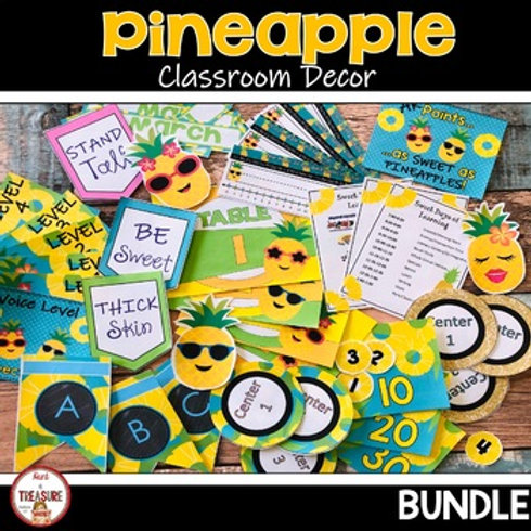 Pineapple Theme Classroom Decor for Back to School