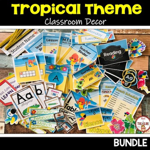 Tropical Theme Classroom Decor for Back to School