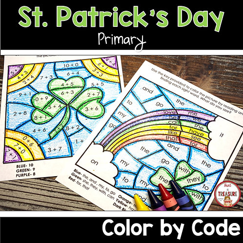 St. Patrick's Day Coloring Activities for Kindergarten and 1st Grade