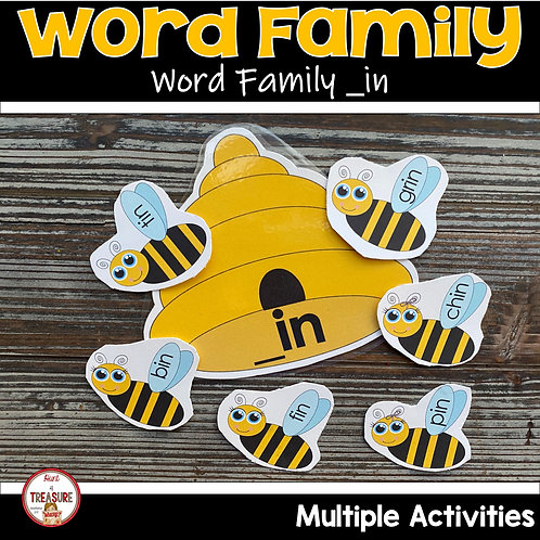 Word Family and Rhyming words for Toddlers and Kindergarten