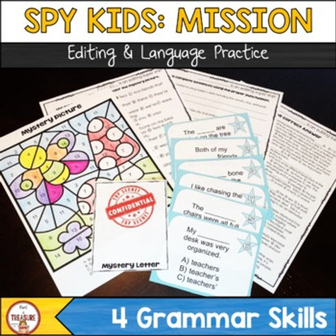Editing and Language Grammar Activities for 3rd, 4th, and 5th Grade