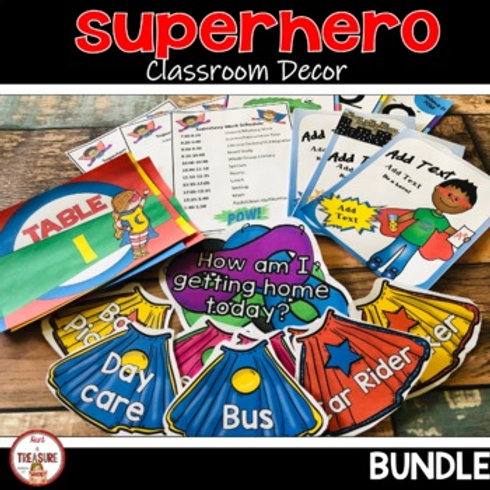 Superhero Classroom Decor for Back to School