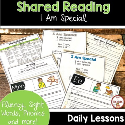 I AM SPECIAL POEM FOR SHARED READING AND PHONICS KINDERGARTEN