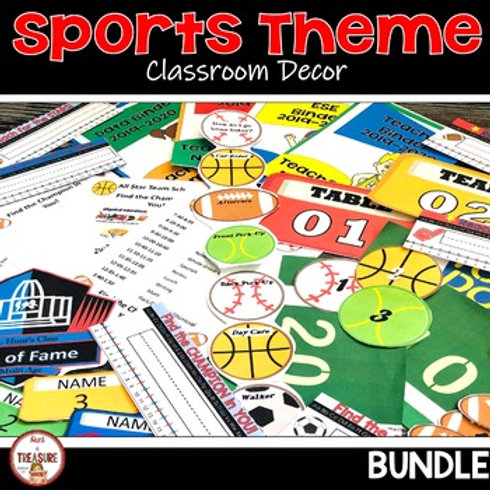 Sports Classroom Decor for Back to School