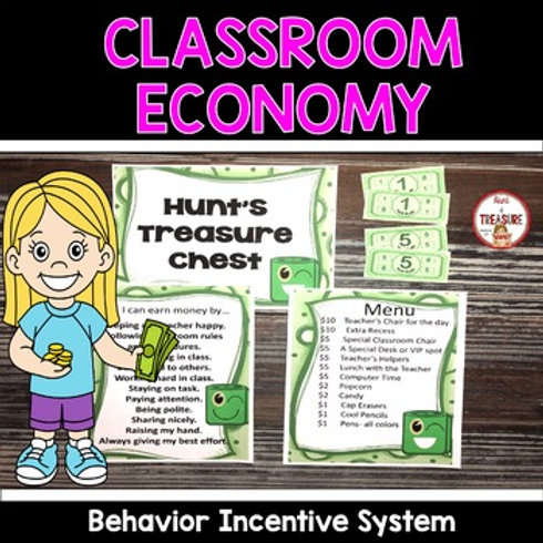 Classroom money for a classroom economy for a incentive behavior management system.