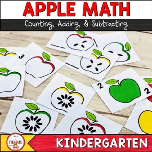 Apple Math   Counting, Adding, and Subtracting