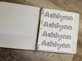 Toddler Busy Book Name Writing Activity