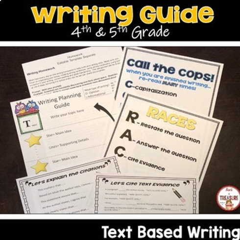 FSA Writing Guide Reading Passages, Writing Prompts for Informational and Opinion Writing