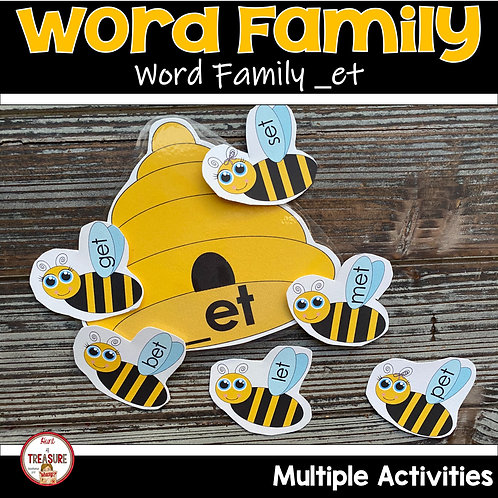Word Family Activities and Rhyming for kindergarten and toddlers