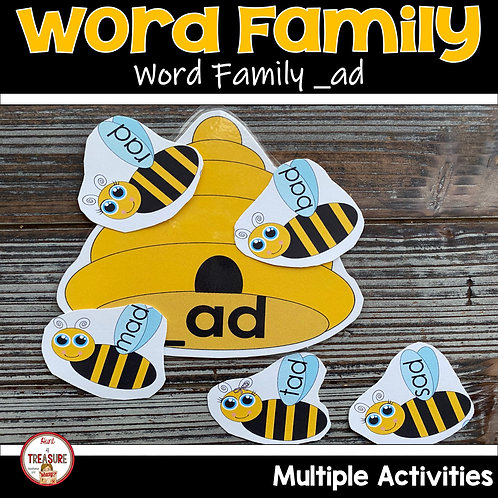 Word Family and Rhyming Activities for Kindergarten and Toddlers