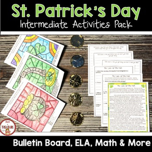 St. Patrick's Day Activities for 3rd, 4th, and 5th Grade
