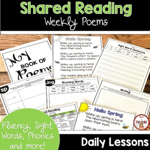 HELLO SPRING POEM FOR KINDERGARTEN SHARED READING AND PHONICS