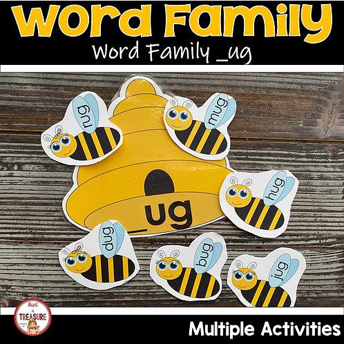 Word Family Hands on Activities for Kindergarten