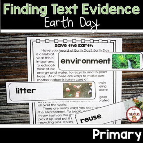 Earth Day Finding Text Evidence