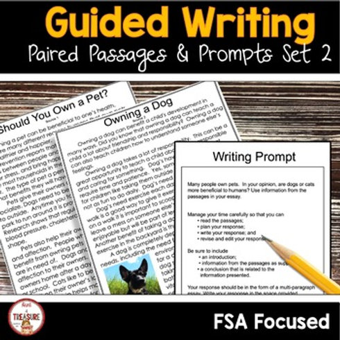 FSA Text Based Writing Guided Lessons and Activities | 4th and 5th Grade | Set 2