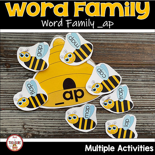 Word Family CVC Hands on practice and Rhyming for Toddlers and Kindergarten
