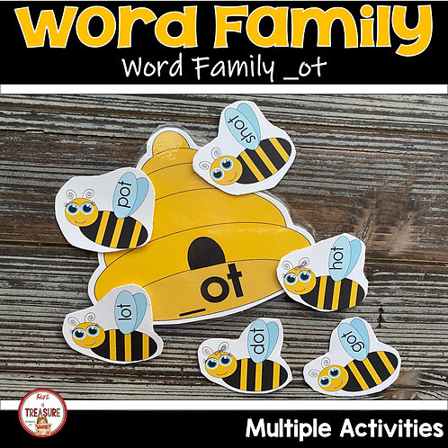 Word Family Hands On Activities for Toddlers and Kindergarten