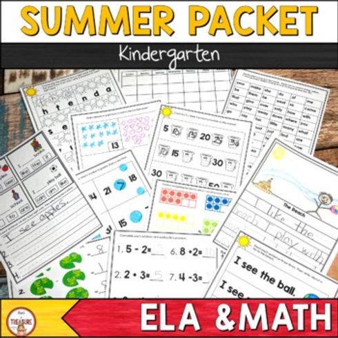 Kindergarten Summer Activities Pack to Avoid Summer Slides