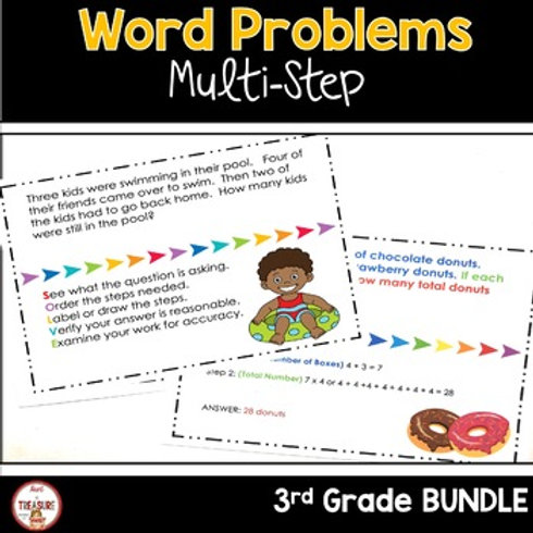 Multistep Math Word Problems for 3rd Grade