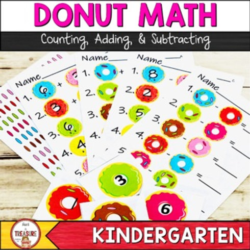 Donut Math Counting, Adding, and Subtracting