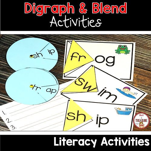 Check out these digraph and blends word work and literacy activities to keep children engaged in reading.