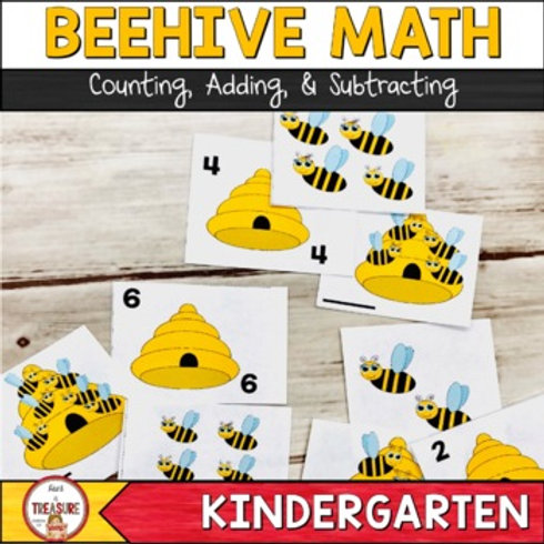 Bee Math Counting, Adding, and Subtracting
