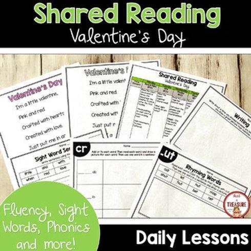 Valentine's Day Poem for Shared Reading Kindergarten