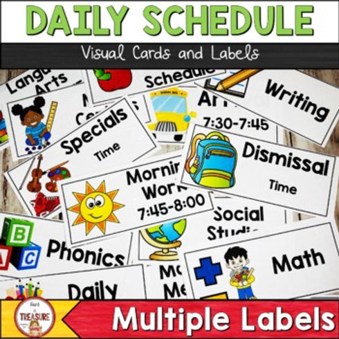 Classroom Daily Visual Schedule