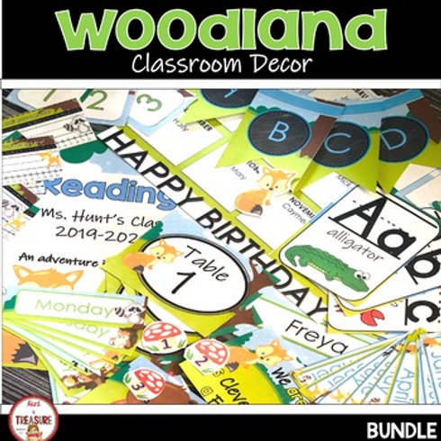 Woodland and Camping Theme Classroom Decor for Back to School