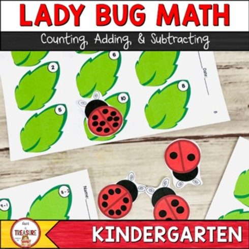 Counting, Adding, and Subtracting Ladybug Math Activities