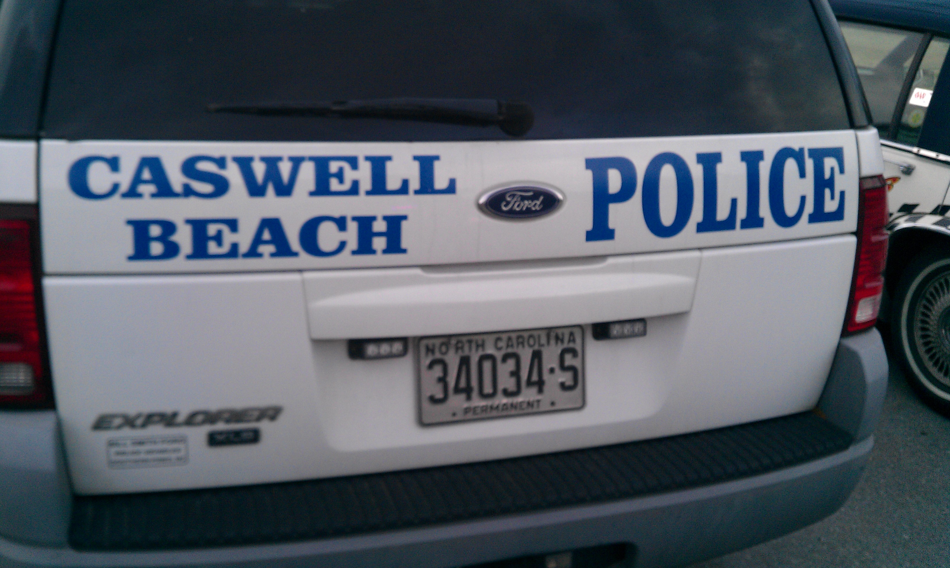 Caswell Beach Police Explorer Decal