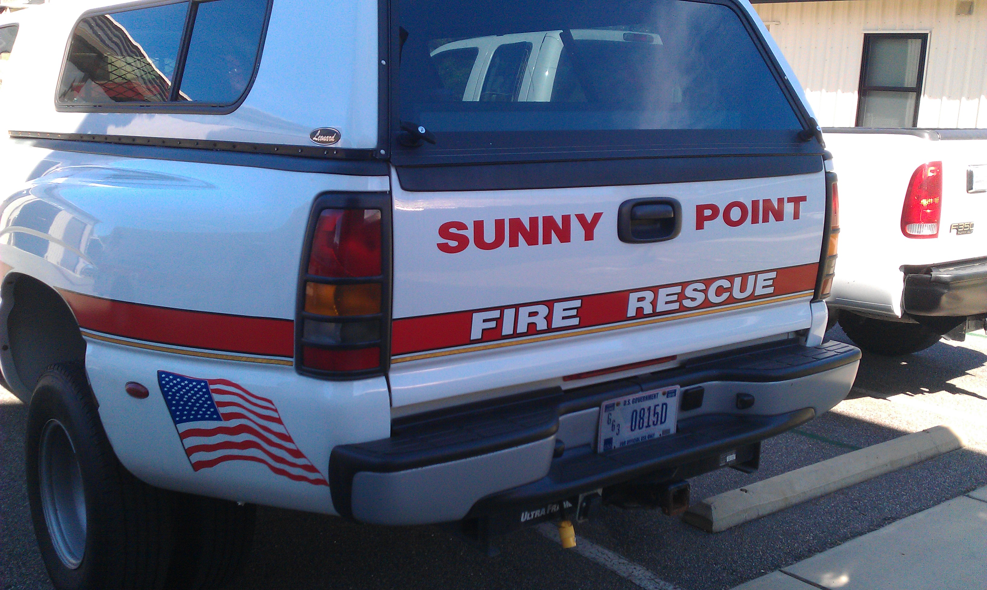 Sunny Point Fire Rescue Truck Decal