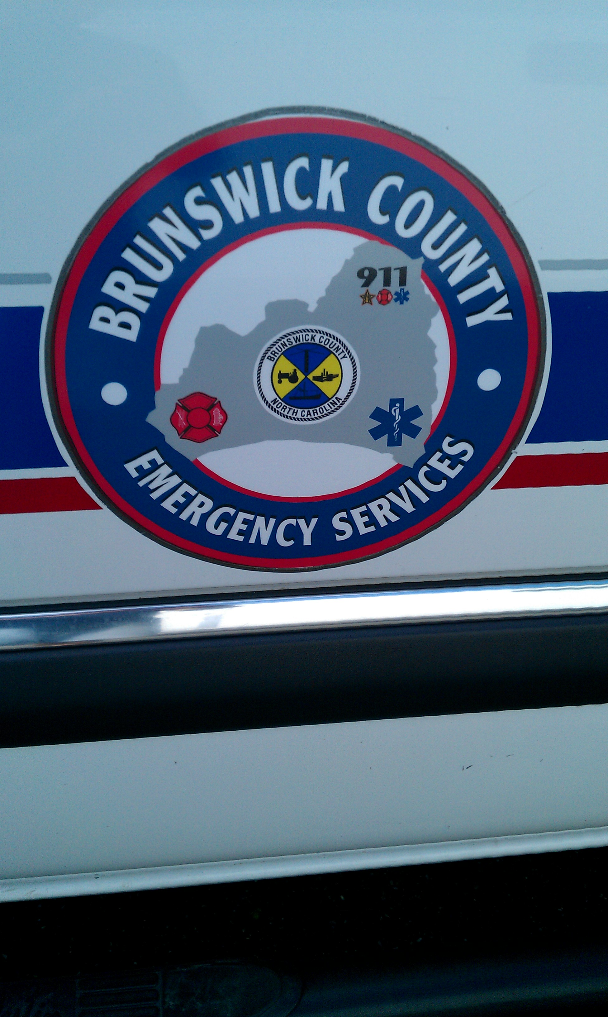 Brunswick County Emergency Decal