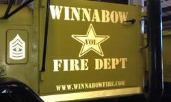 Winnabow Fire Department Decal
