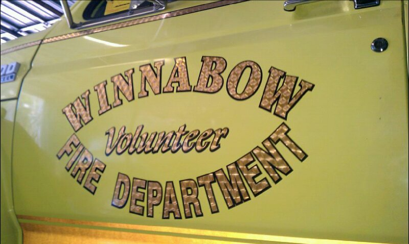 Winnabow Fire Department Truck Decal