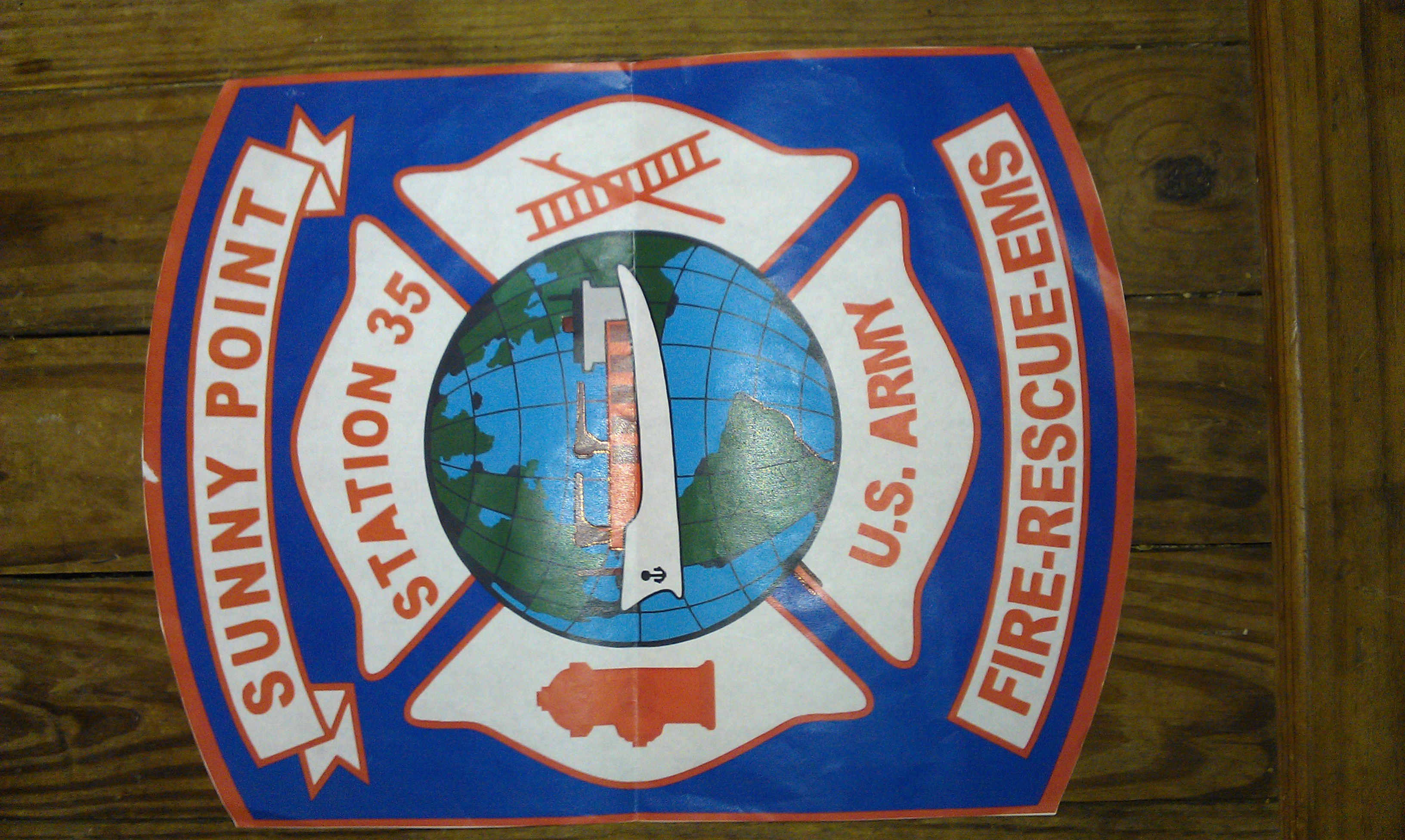 Sunny Point Fire Truck Decal