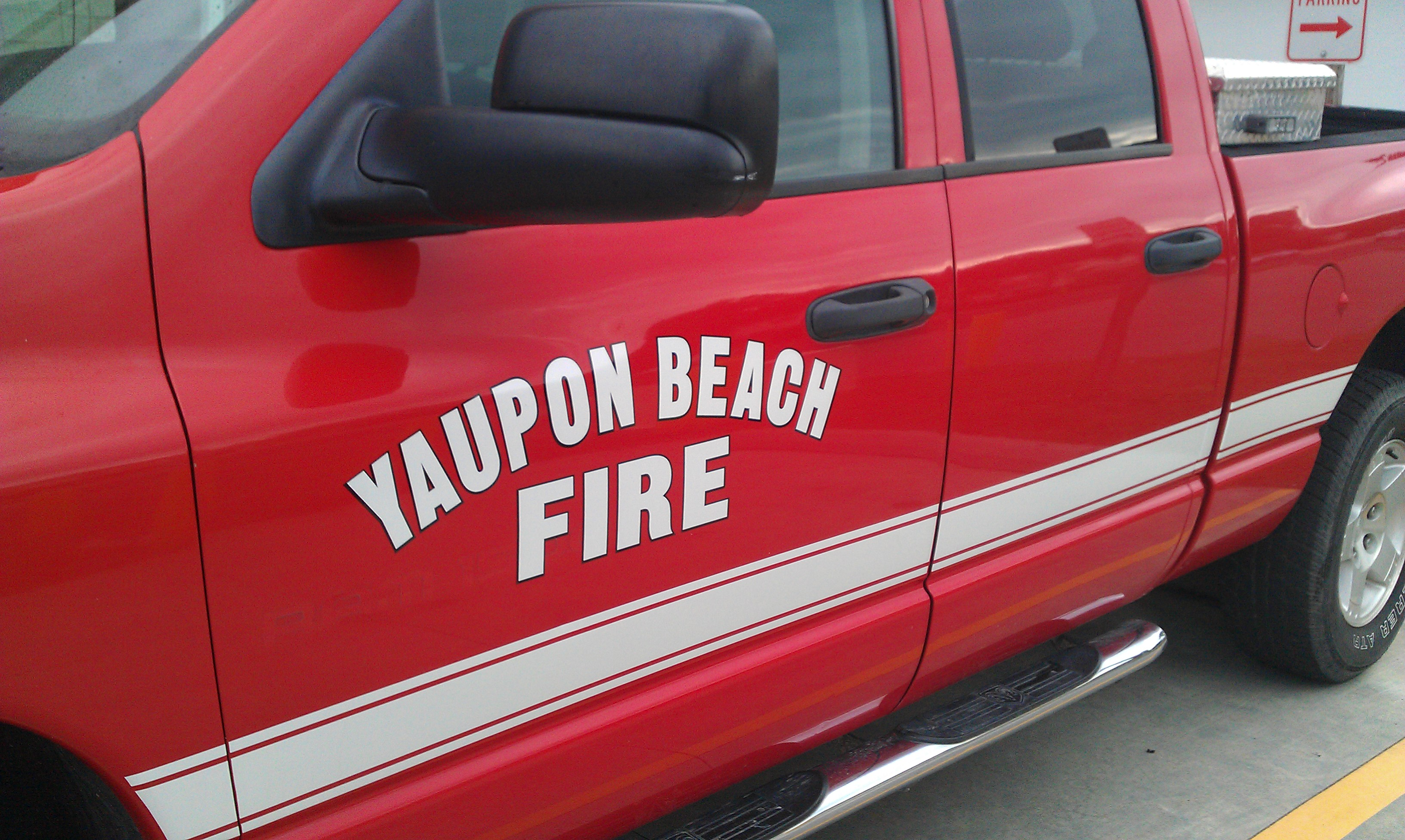 Yaupon Beach Fire Truck Decal