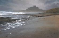Bamburgh Castle ebb tide
