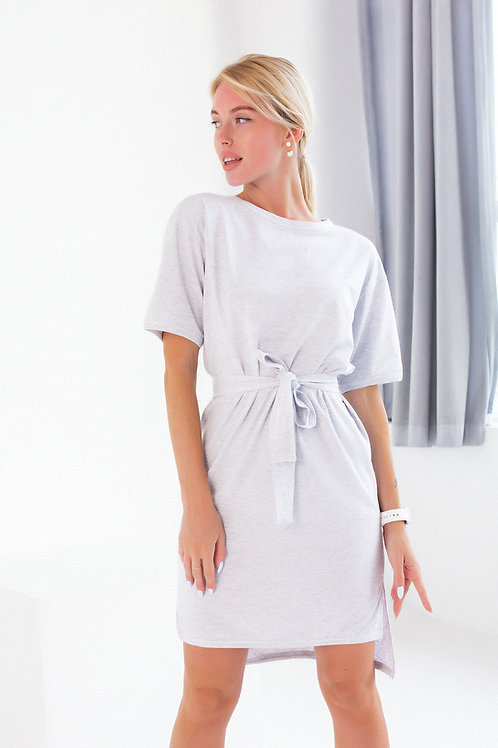 Платье FINKA Oversize Серый-меланж