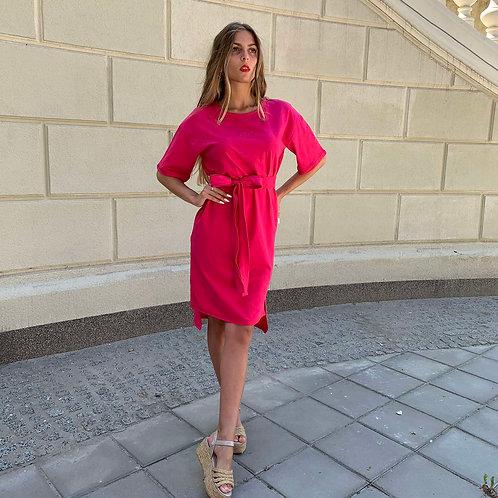Платье FINKA Oversize Малиновое