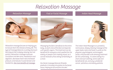 Float Away Relaxation Massage