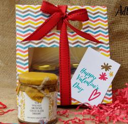 Irresistible Valentine's Day Dessert Gift Hamper - Sugar Free ( 2  Jars )