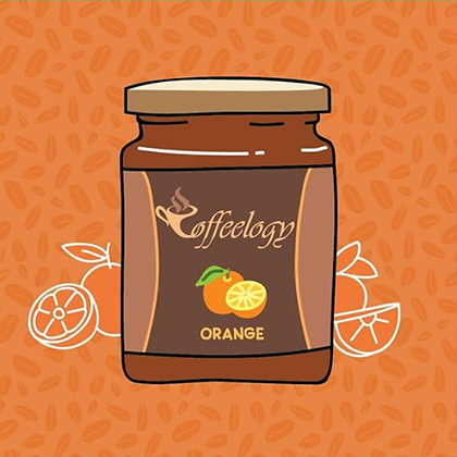 Orange Coffee Jar