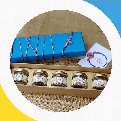 Rakhi Happiness In Mini Jars Gift Box