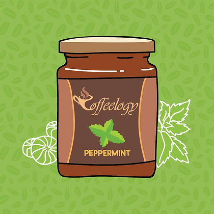 Peppermint Coffee Jar