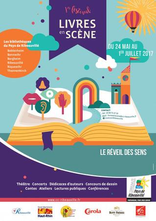 1er Festival Livres en Scène du 24 mai au 1er Juillet 2017 Bibliothèque de Ribeauville